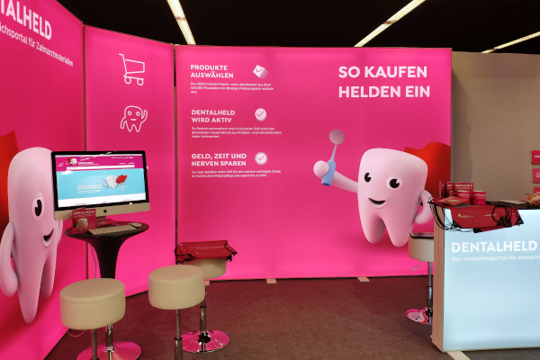 Der DENTALHELD Messestand